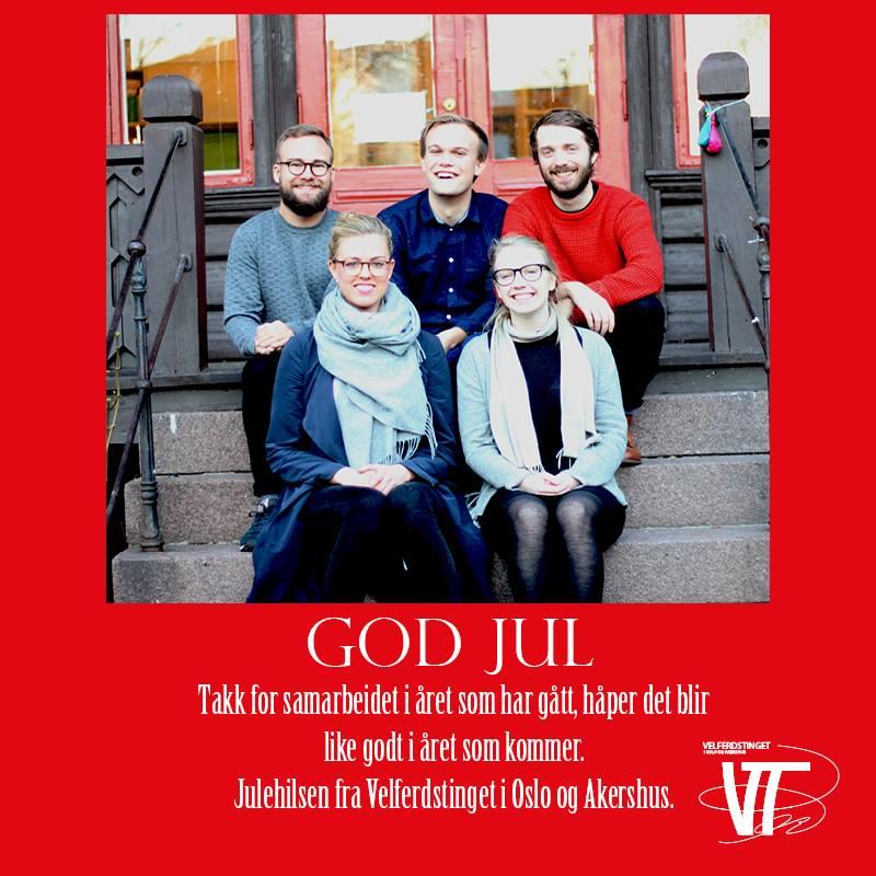 God jul og godt nytt år ønsker Velferdstinget i Oslo og Akershus.